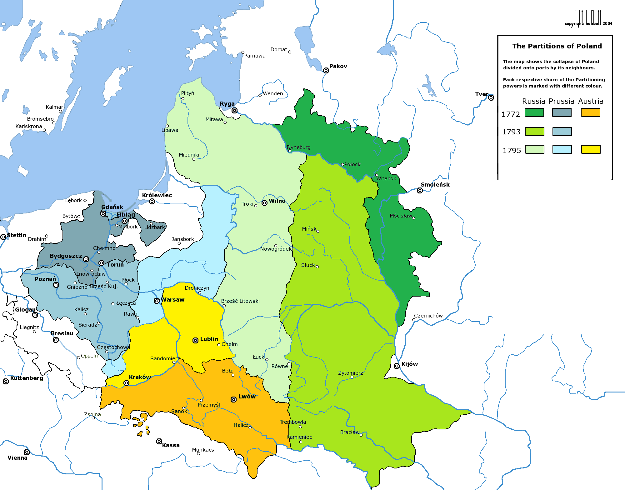 The Partitions of Poland